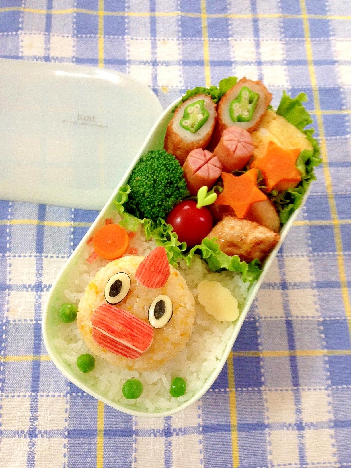 簡単キャラ弁☆そらジロー(日テレ)のお弁当♪