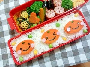 簡単キャラ弁☆みかんちゃんのお弁当♪