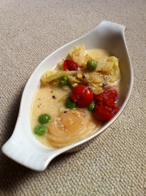 春野菜スープ☆豆乳味噌