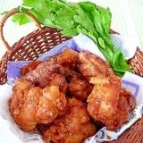 塩麹と焼き肉のタレで☆チキンバスケット