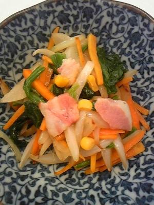 にんにくとウェイパーで中華風野菜炒め♪