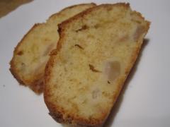 洋梨のパウンドケーキ