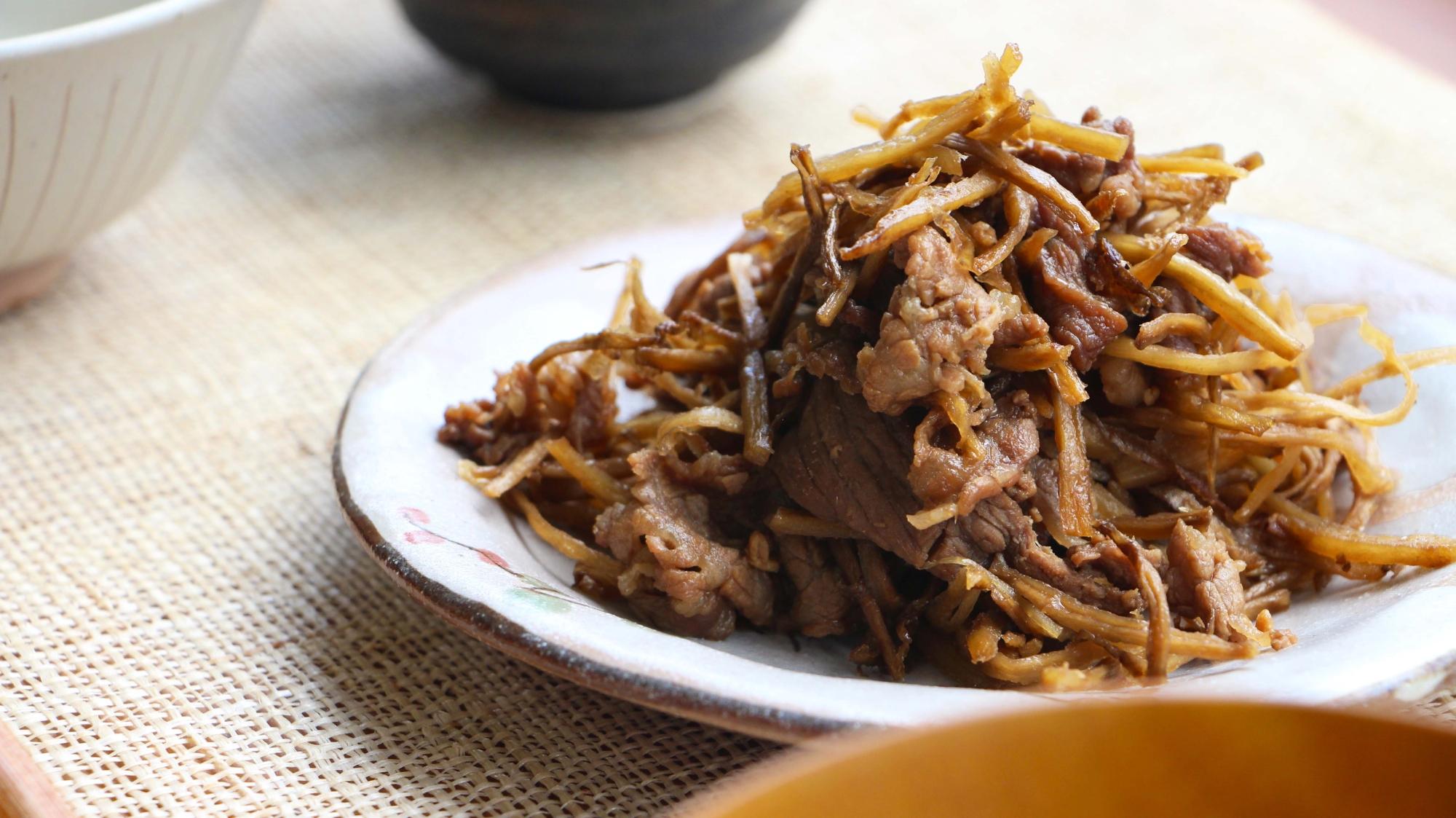 20. 牛肉とごぼうのしぐれ煮