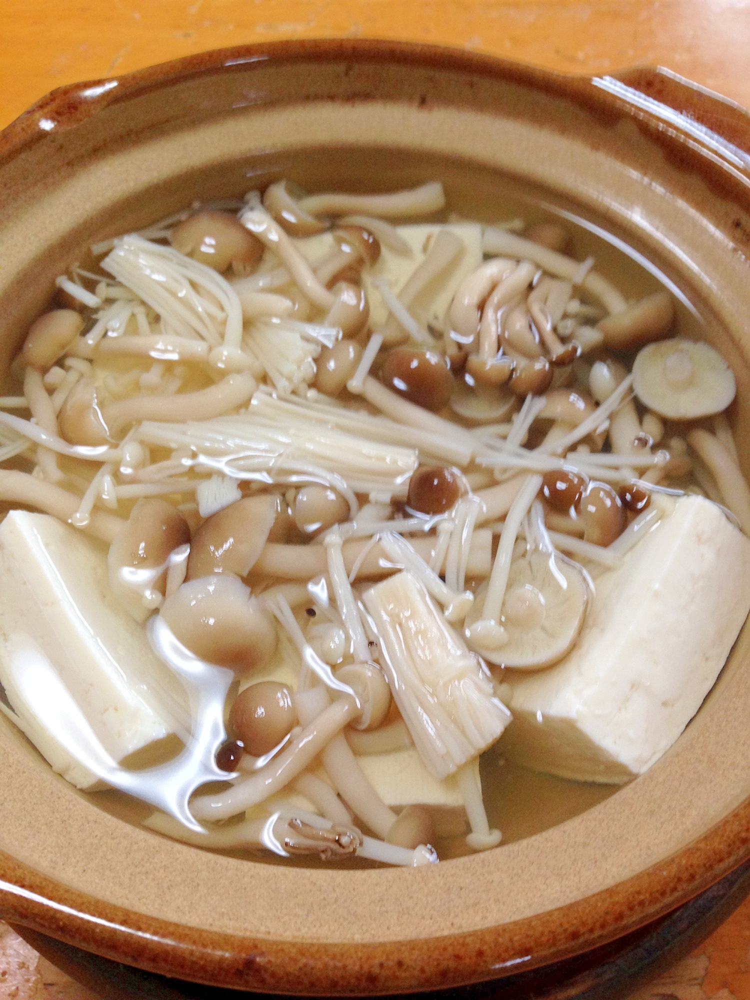 5.キノコたっぷり湯豆腐♪