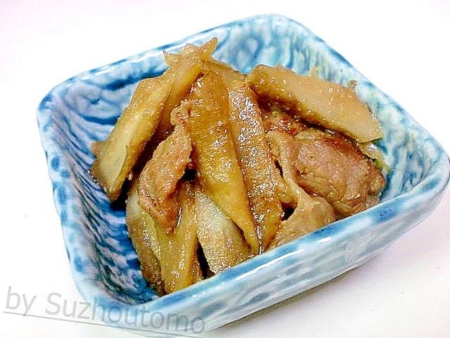 ごぼうの甘辛ごま味噌炒め