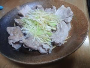 簡単なのに本格的な味、豚しゃぶのネギ油