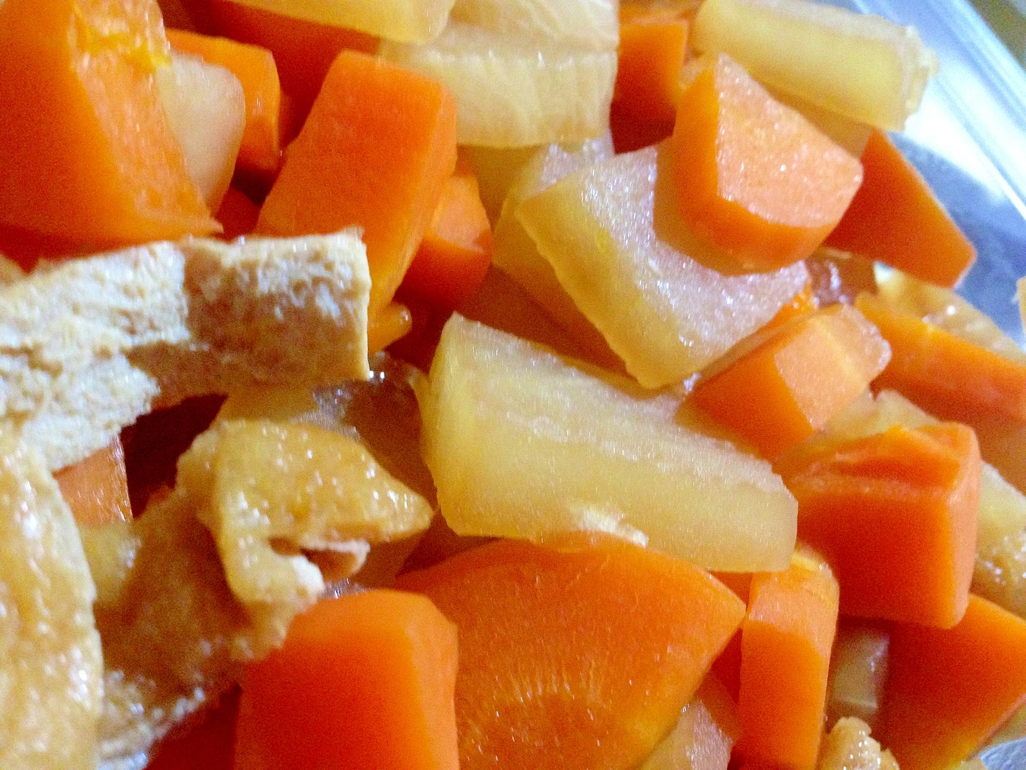 【保存食】作り置きで味が染みる!大根と油揚げの煮物