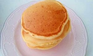 強力粉でふわふわパンケーキ