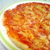 シンプルにベーコンオニオンピザ