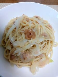 梅香るツナスパゲッティ