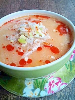 もやしの坦々麺風ピーナッツスープ