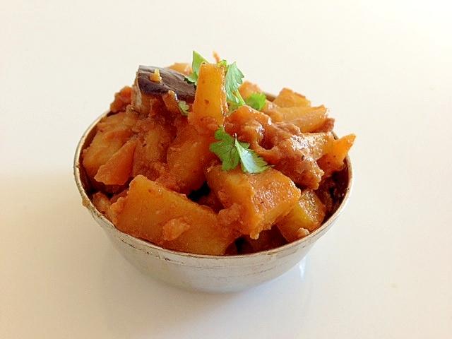 野菜たっぷりひき肉マサラ