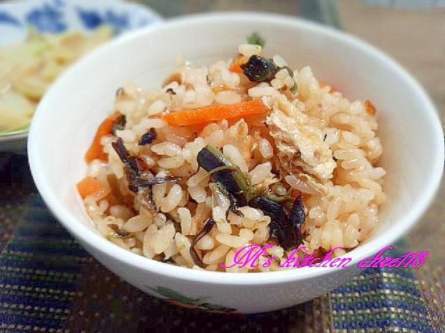 1. わらびの炊き込みご飯
