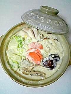 ☆ミルク味噌鍋焼きうどん☆