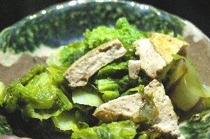 厚揚げと白菜のスパイス味ソテー