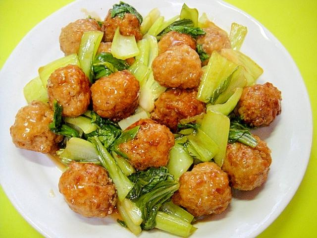 3. チンゲン菜と卵の甘酢炒め