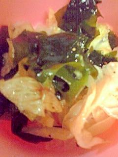 レタスとわかめのサラダ