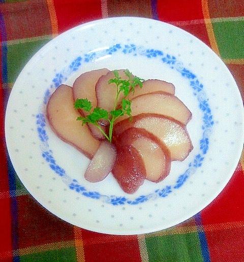 缶詰でお手軽☆洋ナシの赤ワイン煮
