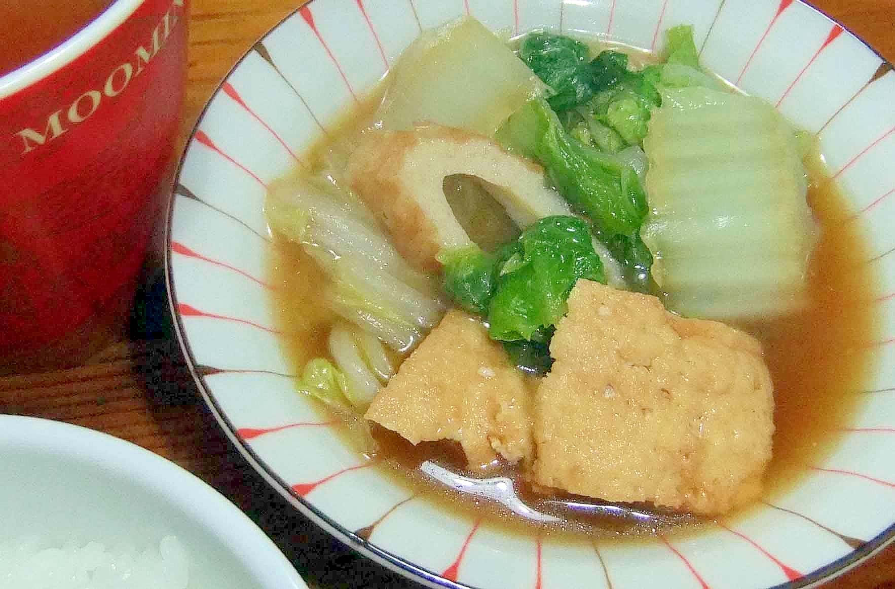 12. 白菜と厚揚げの炊き合わせ