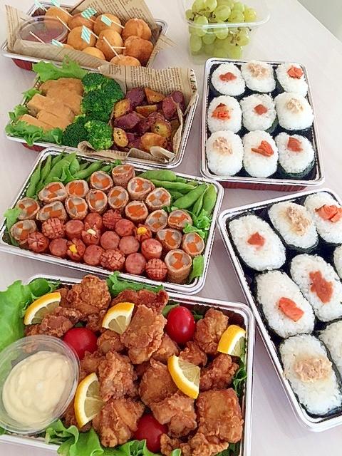 簡単なものばかり☆運動会のお弁当☆