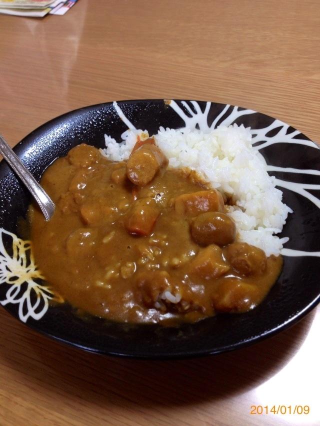 野菜たっぷりのカレーライス((*´∀`*))