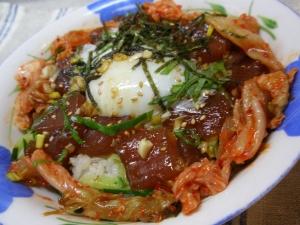 焼肉のたれで簡単に!韓国風マグロ丼