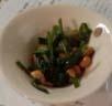 大豆とほうれん草のハーブソルト炒め