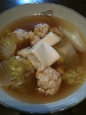 白いものだらけの鍋料理
