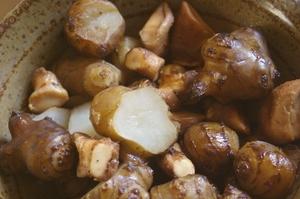 菊芋と軸の醤油炒め