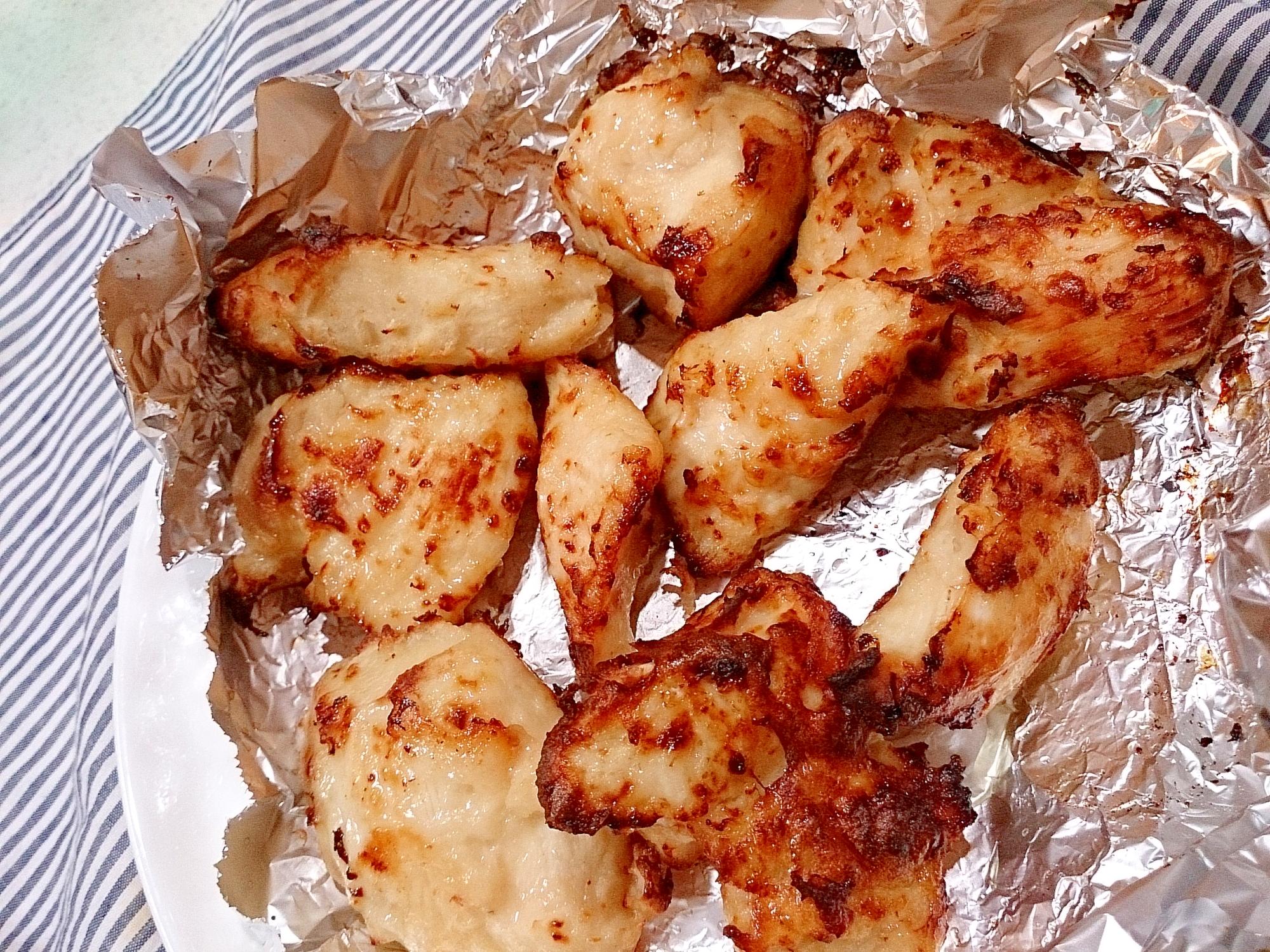 新玉ねぎすりおろし漬鶏胸肉の唐揚げ(ノンフライヤー