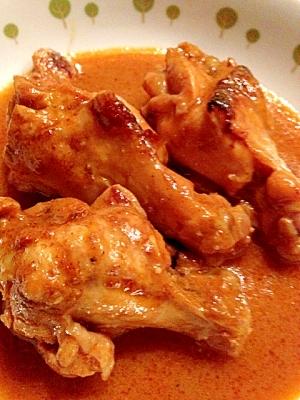 簡単! 鶏手羽元のケチャップカレー煮込み レシピ・作り方