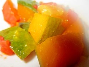 かぼちゃとトマトの塩麹蒸し煮