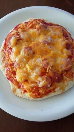 ホットケーキミックスでピザ