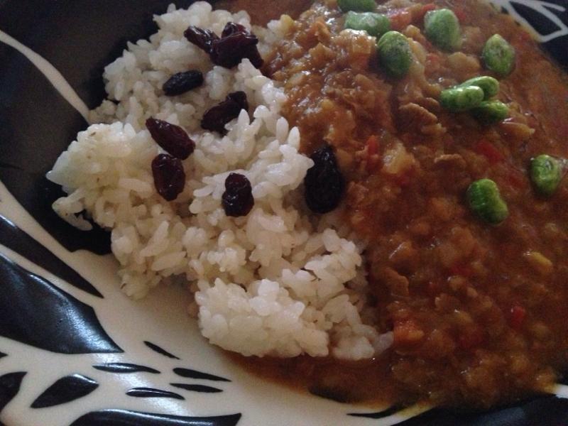 レンズ豆と枝豆のトマト煮。