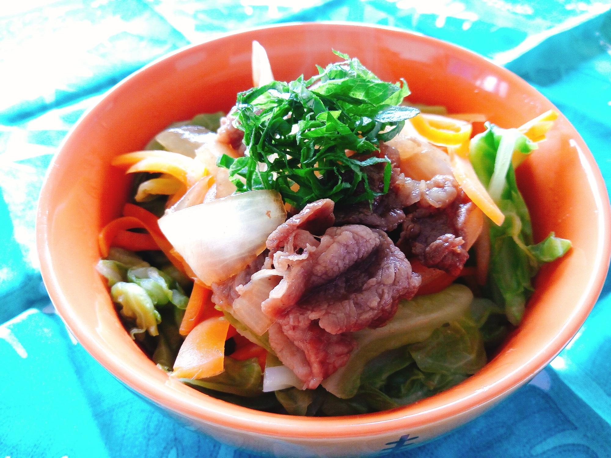 簡単!ヘルシー!ボリューム満点牛丼! レシピ・作り方
