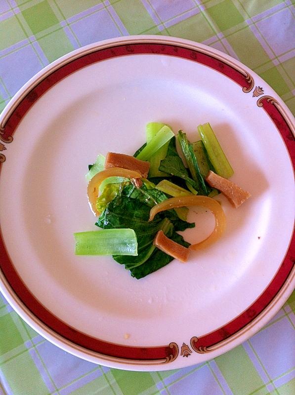 いつでも簡単★高野豆腐&たまねぎ&小松菜の炒め物