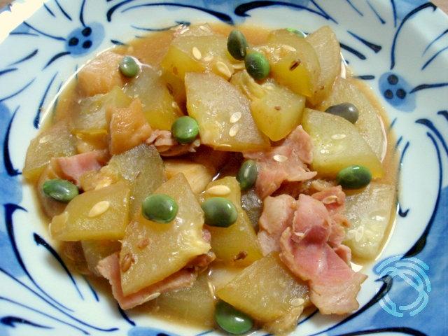 カリモリ瓜のンブシー風味噌煮