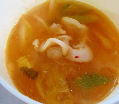 キムチカレー味噌スープ(味噌汁アレンジ)