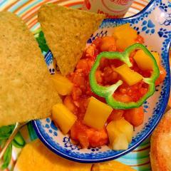 ひよこ豆と鶏ひき肉のトマトディップ