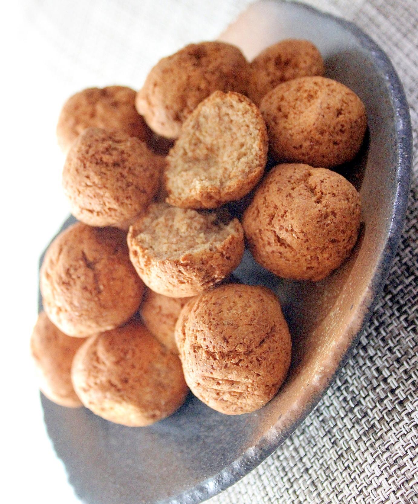 低糖ミックス粉活用で簡単♪小麦ふすまの焼きドーナツ