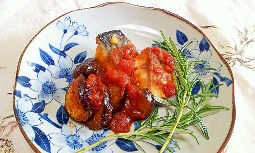 意外に相性がいい鯖のトマト煮