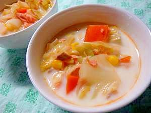 甘塩鮭と野菜のミルクスープ