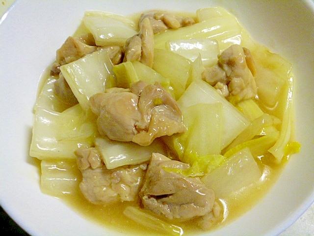 簡単!おつまみ!白菜ととりもも肉の中華炒め煮