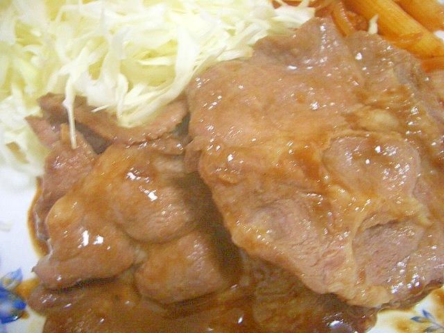 豚肉のしょうがソース焼き