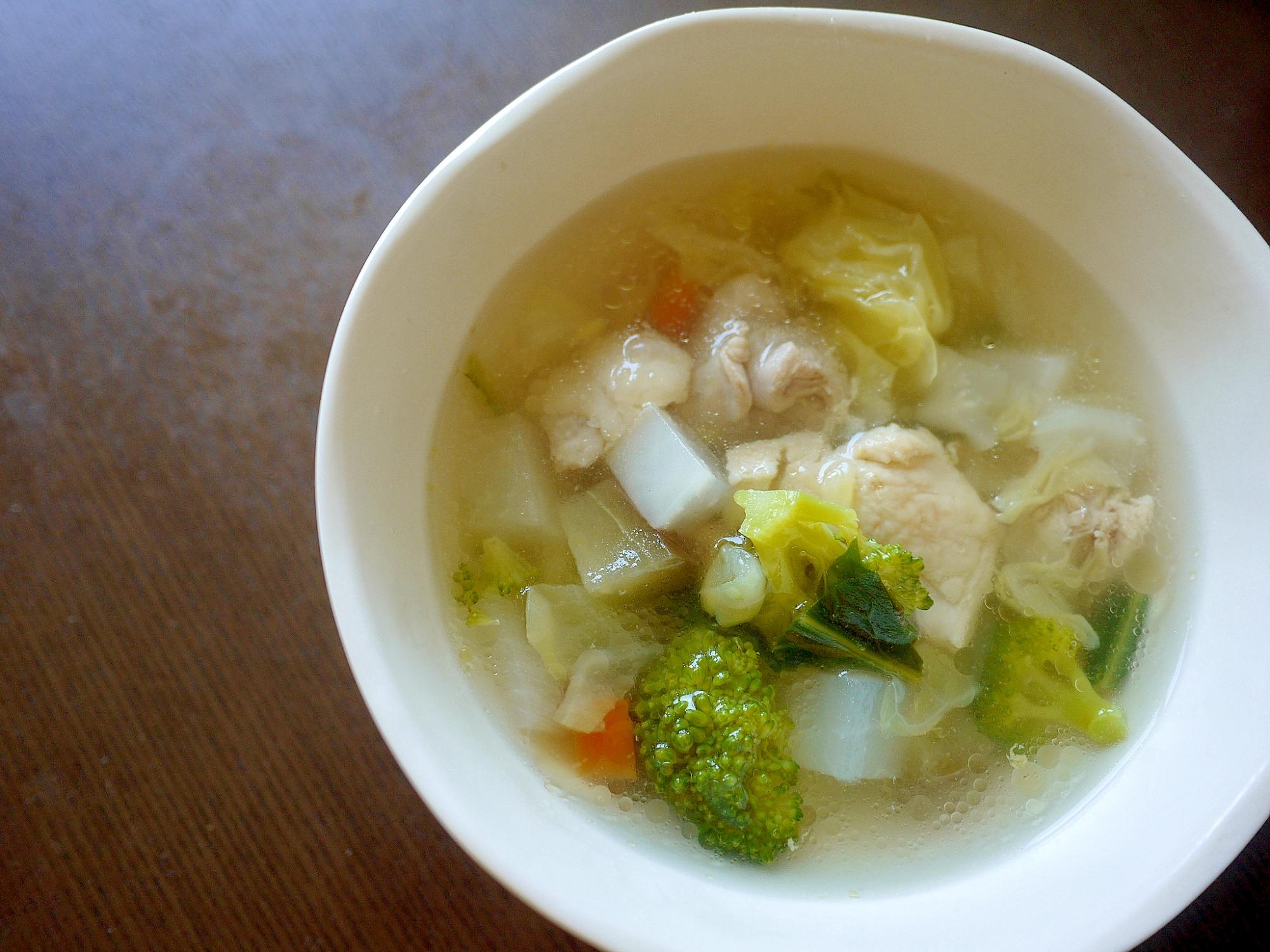 鶏とたっぷり野菜のスープ