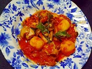 里芋とチキンのトマト煮込み~イタリアンパセリ風味~