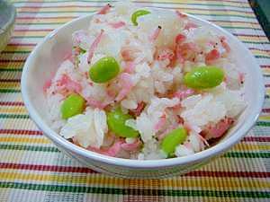 桜えびと枝豆の混ぜご飯