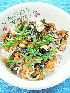 納豆の食べ方-わかめ&梅香味♪