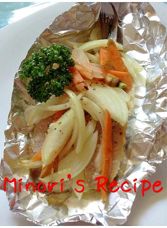 真いわしと野菜のオーブン焼き♪