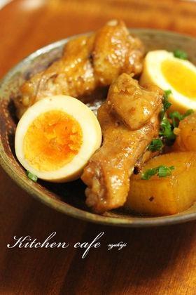 大根 と 鶏肉 の 煮物